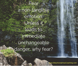 The reality of fear